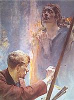 Artist andMuse, malczewski