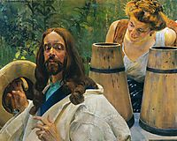 Christ and Samaritan Woman, malczewski