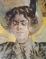Portrait of Maria Balowa, malczewski