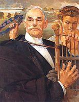 Portrait of Władysław Żeleński, 1908, malczewski
