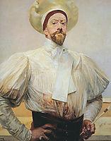 Self-portrait in White Dress, malczewski