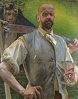 Self-portrait with Death, malczewski