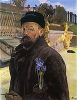 Self-portrait with hyacinth, malczewski