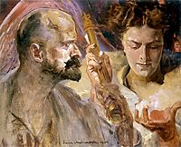 Self-portrait with the muses, malczewski