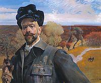 Self-portrait with Pisanka , malczewski