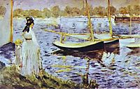 The Banks of the Seine at Argenteuil, 1874, manet