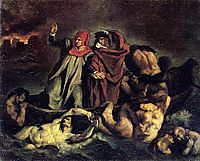 The barque of Dante (Copy after Delacroix), 1854, manet