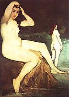 Bathers on Seine, c.1875, manet