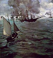 Battle of Kearsage and Alabama, manet