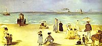 Beach at Boulogne, 1869, manet