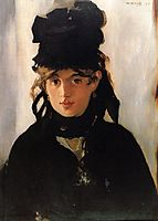 Berthe Morisot with a bouquet of violets, manet