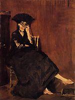 Berthe Morisot with a Fan, manet