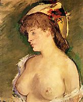 The Blonde with Bare Breasts, manet