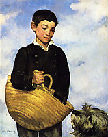 A boy with a dog, 1861, manet