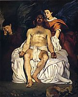 The Dead Christ with Angels, 1864, manet