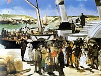 Departure of the steamship Folkestone, 1869, manet
