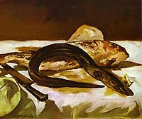 Eel and Red Mullet, 1864, manet