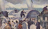 Embarkation after Folkestone, 1869, manet