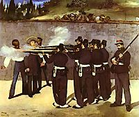 The Execution of the Emperor Maximilian of Mexico, 1868, manet