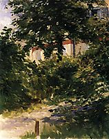 Garden path in Rueil, manet