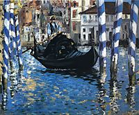 The grand canal of Venice (Blue Venice), 1875, manet