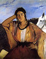 Gypsy with a Cigarette, c.1862, manet