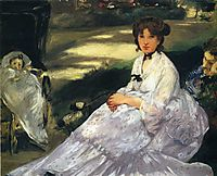 In the garden, 1870, manet