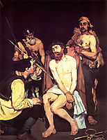 Jesus mocked by the Soldiers, 1865, manet