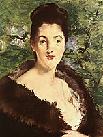 Lady in a fur, c.1880, manet