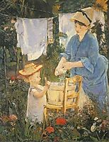 The laundry, 1875, manet