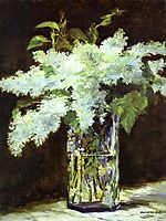 Lilac in a glass, c.1882, manet