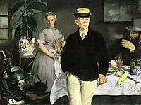 Lunch in the workshop, 1868, manet