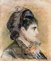 Madame Jeanne Martin in a bonnet, c.1881, manet