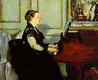Madame Manet at the Piano, 1868, manet