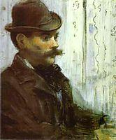 Man in a Round Hat (Alphonse Maureau), 1878, manet