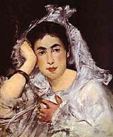 Marguerite de Conflans Wearing Hood, 1873, manet