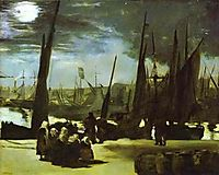 Moonlight over the Port of Boulogne, 1869, manet