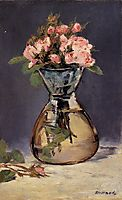 Moss Roses in a Vase, 1882, manet