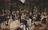 Music in the Tuileries, 1862, manet