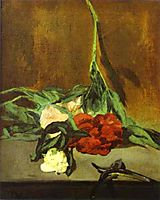 Peony stem and shears, 1864, manet