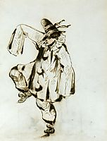 Pierrot dancing, manet