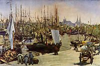The Port of Bordeaux, 1871, manet
