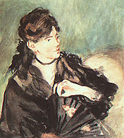 Portrait of Berthe Morisot, manet
