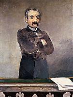 Portrait of Clemenceau at the tribune, 1880, manet