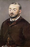 Portrait of composer Emmanual Chabrier, c.1880, manet