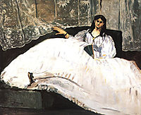 Jeanne Duval, Baudelaire-s Mistress, Reclining (Lady with a Fan), 1862, manet