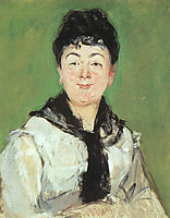 Portrait of a lady with a black fichu, 1878, manet