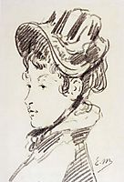 Portrait of madame Julles Guillemet, c.1878, manet