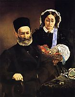 Portrait of Monsieur and Madame Auguste Manet, manet