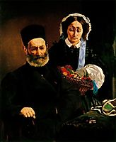 Portrait of Mr. and Mrs. Auguste Manet, 1860, manet